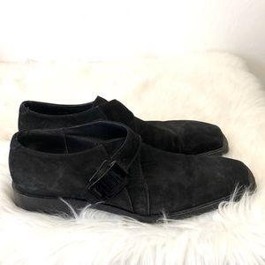Cesare Paciotti black suede loafers size 9.5